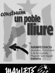 Construïm un poble lliure, manifestació a València (9/10/1998)