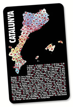 Les 89 comarques catalanes en un calendari de butxaca.
