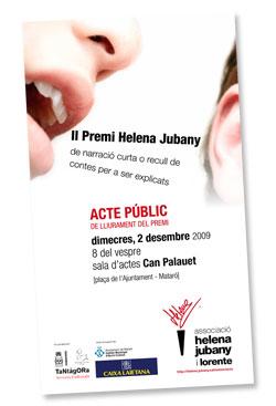 El 2 de desembre acte públic de lliurament del II Premi Helena Jubany