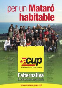 Per un mMataró habitable, cartell CUP Mataró eleccions municipals 2007